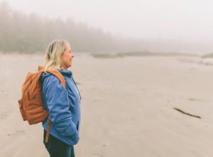 A woman who is an active participant in life and her retirement plan